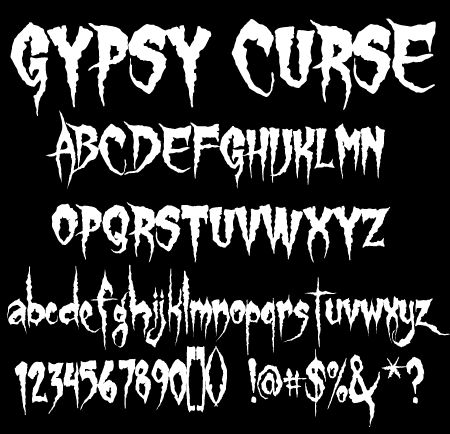 fonts artworks and halloween on pinterest - Halloween Writing Font