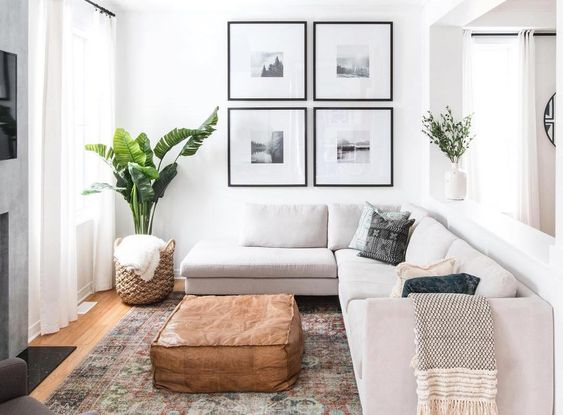 There are ways to trick the eye into thinking a space is bigger than it is — here are six genius ideas to try to make your room feel more spacious. #homedecor #homedesign #tricks #tips #decorideas
