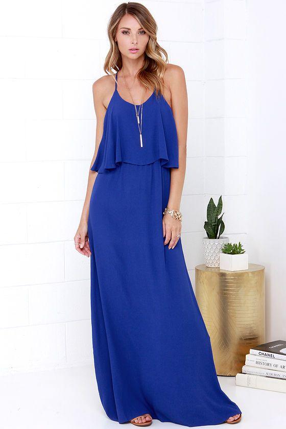 Blue Maxi Dress | Gommap Blog