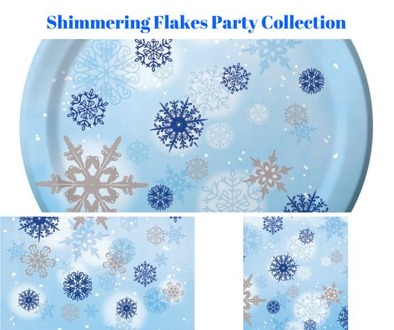 Shimmering Flakes Party Banner
