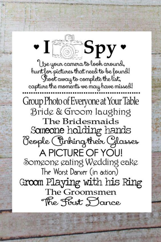 I SPY Wedding Game DIY Printable Photo by OurHobbyToYourHome