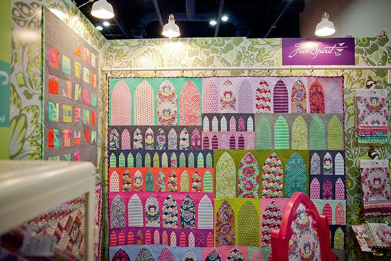 Sewing and quilting inspiration from Tula Pink as seen in her booth at the 2014 Fall Quilt Market