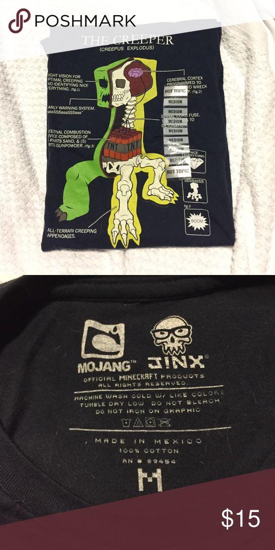 Final Price Minecraft Creeper Anatomy Shirt Nwt Shorts Tops