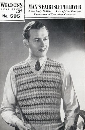 The Vintage Pattern Files: Free 1940's Knitting Pattern - Weldons ...