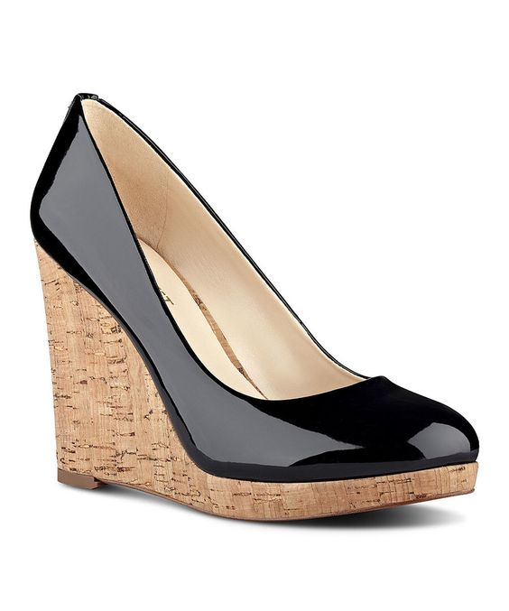 Look at this Black Halenia Wedge on #zulily today!