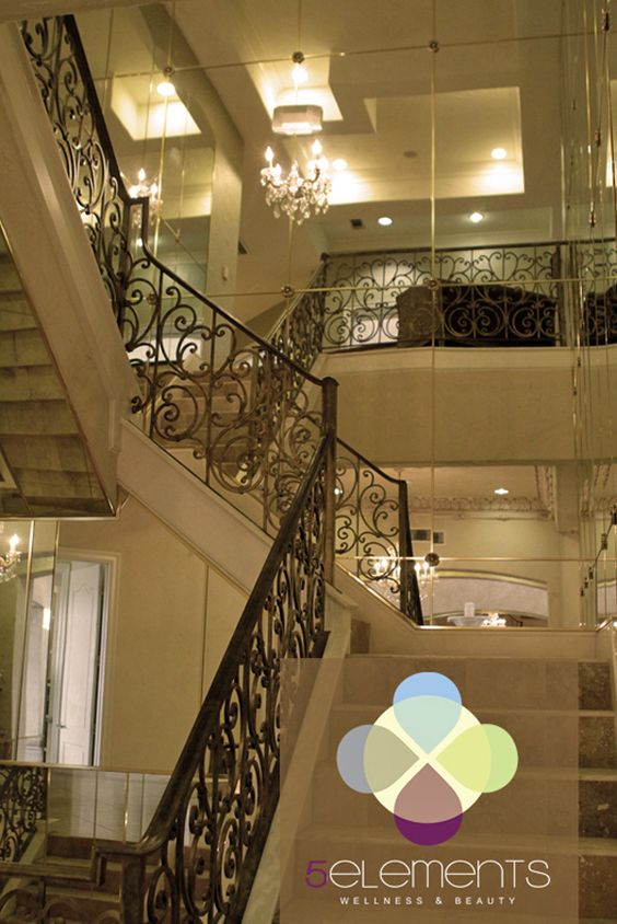 glass and mirror staircase