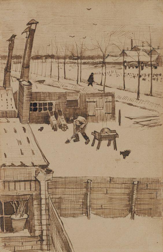 View from the Window of Vincent's Studio, 1883. Vincent van Gogh