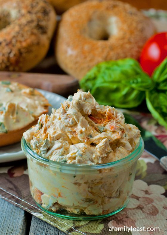 Sundried Tomato Basil Cream Cheese Spread - A Family Feast