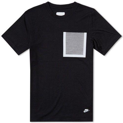Nike White Label Dri-Fit Wool Tee (Black & Dark Grey Heather)