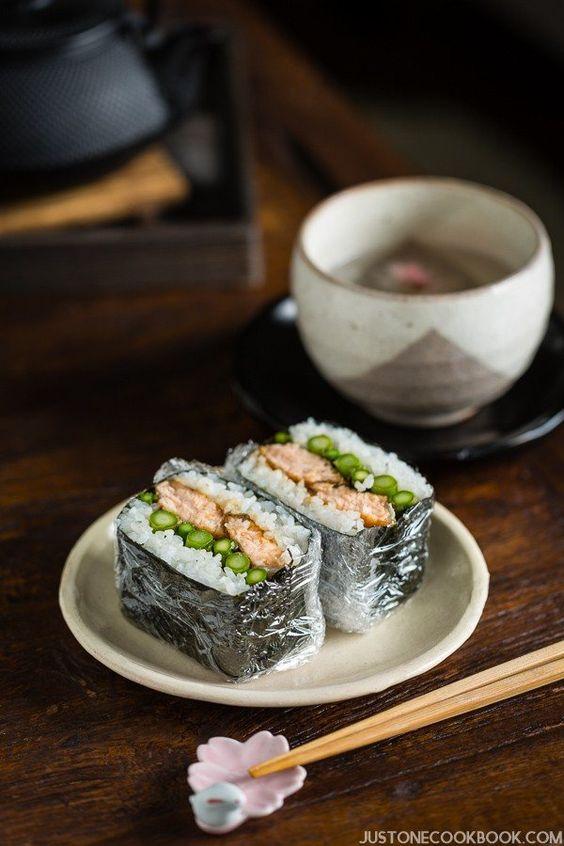 Teriyaki Salmon Onigirazu | Easy Japanese Recipes at JustOneCookbook.com