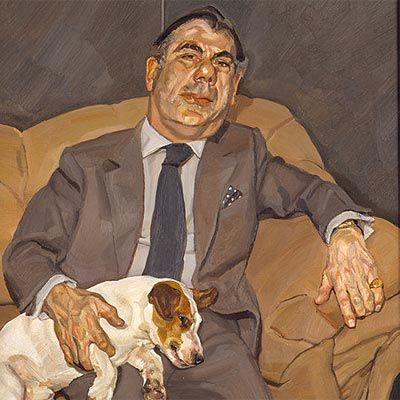 above: Lucian Freud self-portrait (one of many), Reflection, 2005   British realist, figurative and  portrait painter Lucian Freud, who was...