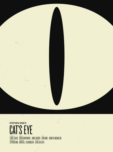 cat's eye poster - Stephen King cat's eye . 50 retro style posters (designinspiration)