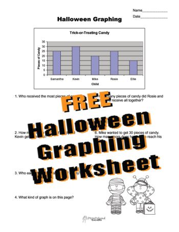 Squarehead Teachers: FREE Halloween Graphing worksheet for kids ...