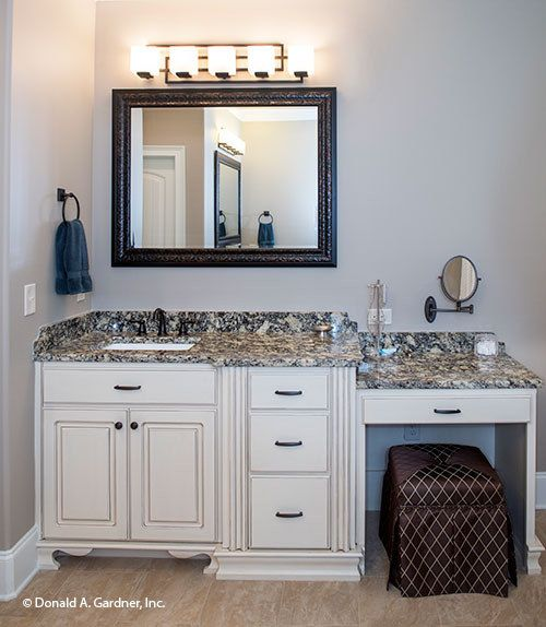 Bathroom vanity with makeup station