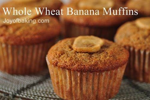 whole wheat banana muffins! I tweaked the recipe and will pin my own recipe and pictures of my muffin soon.