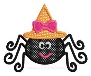 New! Girly Spider Applique Design