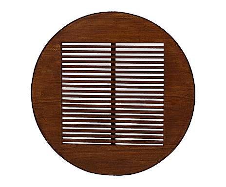 Colores de otoño: Porta CD en madera de mindi – marrón