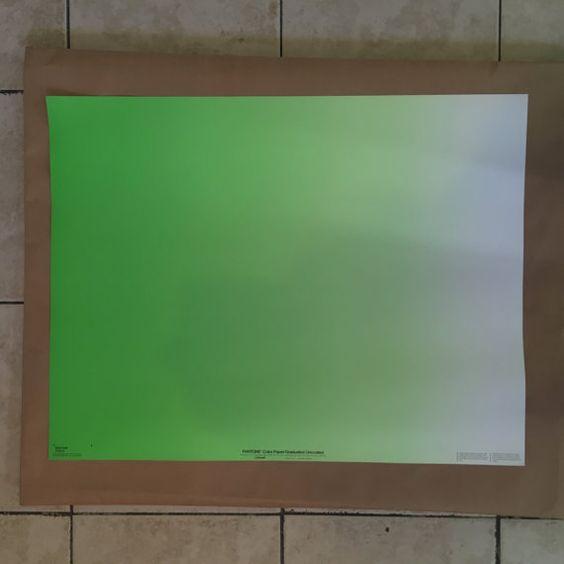 """Pantone 20 """"x 26"""" Jahrgang Papier Poster 357U - G FADE"""