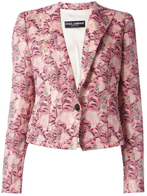 DOLCE & GABBANA Floral Jacquard Blazer. #dolcegabbana #cloth #blazer