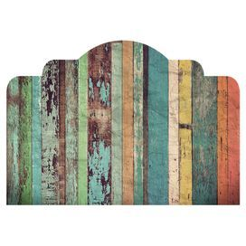 Rustic Headboard Wall Decal: I want this in real wood!