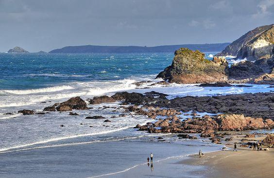 Cornish coast at Trevaunance Cove