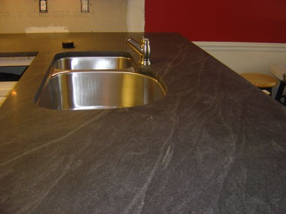 Concrete That Looks Like Soapstone Countertops : Virginia mist honed looks like soapstone but isn t