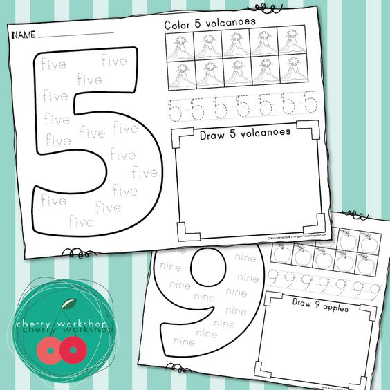 Numbers 110 – Number Sense Worksheets for Kindergarten