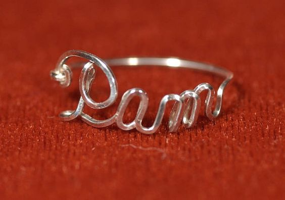Name Ring in Sterling Silver by ScriptCraftJewelry on Etsy, $28.00