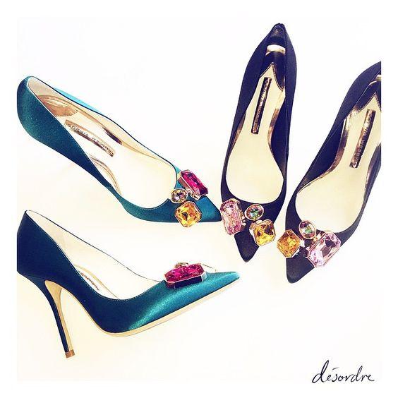 The LOLA GEM satin pump  our must have staple heel this winter x #sophiawebster #desordre