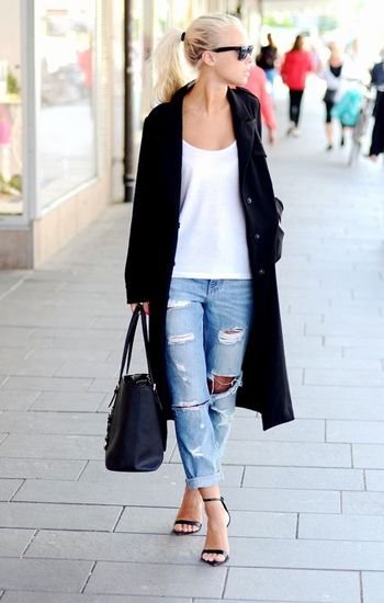 Street Style Spotlight: 25 Ways To Wear Boyfriend Jeans: