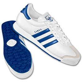 adidas samoa royal blue and red stripe