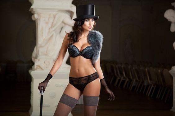 Обои девушка в цилиндре, белье, модельв чулках, panties, Natalia Siwiec, lingerie, models, women 1680x1050, 38353