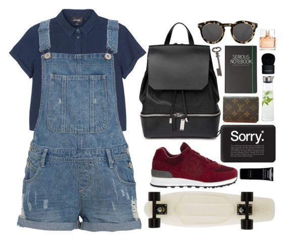 """""""Let's get lost"""" by dontneedfashion ❤ liked on Polyvore featuring Givenchy, Thirstystone, Monki, New Balance, Happy Jackson, COSTUME NATIONAL, Louis Vuitton, Illesteva, Casetify and blomus"""