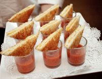 grilled cheese and tomato soup appetizers