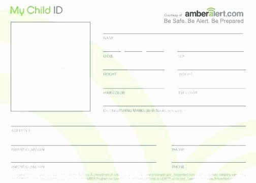 Free Child Id Card Template Best Of Child Id Card Printable Identification Cards Template Free Id Card Template Card Template Card Templates Free