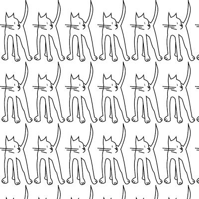 free digital cat scrapbooking paper: printable black-and-white DIY paper