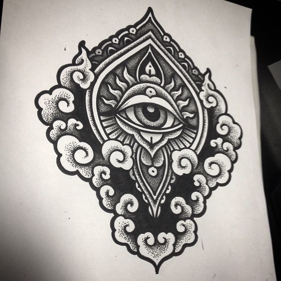 Sun awesome and third eye on pinterest for Eye tattoo art