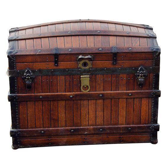 This Dome Top Steamer Trunk ($1,800) is the ideal vessel for stylishly stashing everything from blankets to board games.