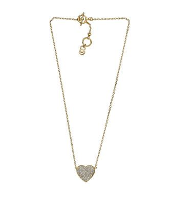 Pave Heart Pendant Necklace by Michael Kors at Last Call by Neiman Marcus.
