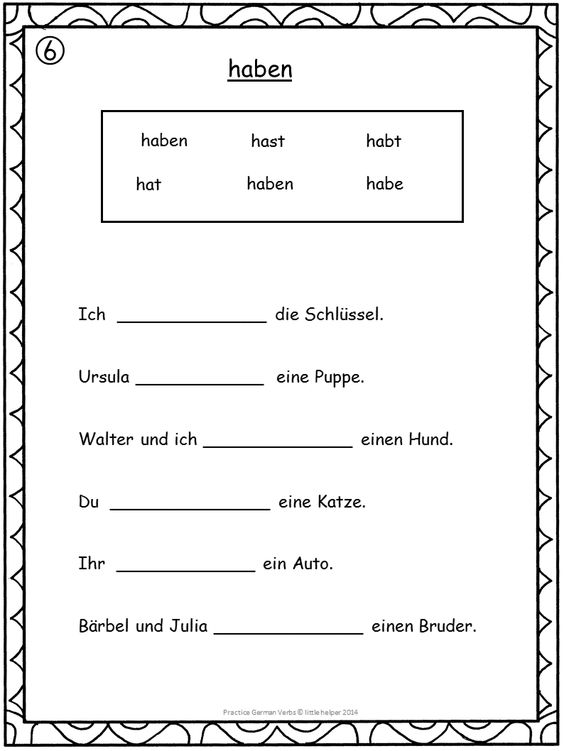 german verbs conjugation practice. Black Bedroom Furniture Sets. Home Design Ideas