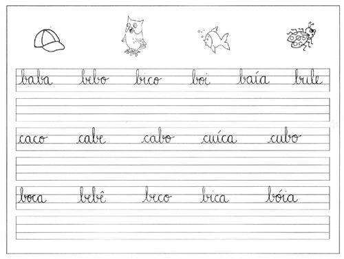 Pontilhados Com Letras Preparacao Para Letra Cursiva Com