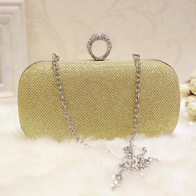 New Faux Suede Pearl Studs Hard Compact Ladies Bridal Clutch Bag Purse