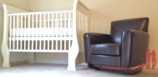 How to turn a typical armchair into a baby rocker. $0 www ...
