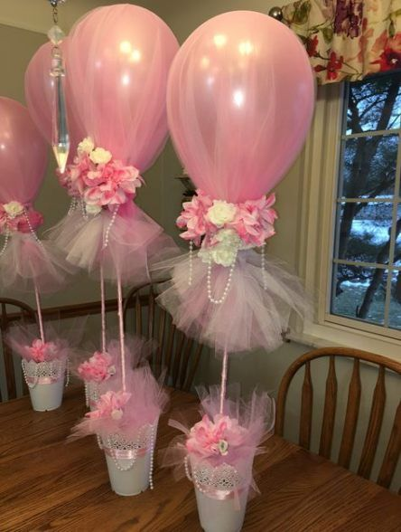 Baby Shower Ideas Decorations Tulle Balloons 38 Best Ideas