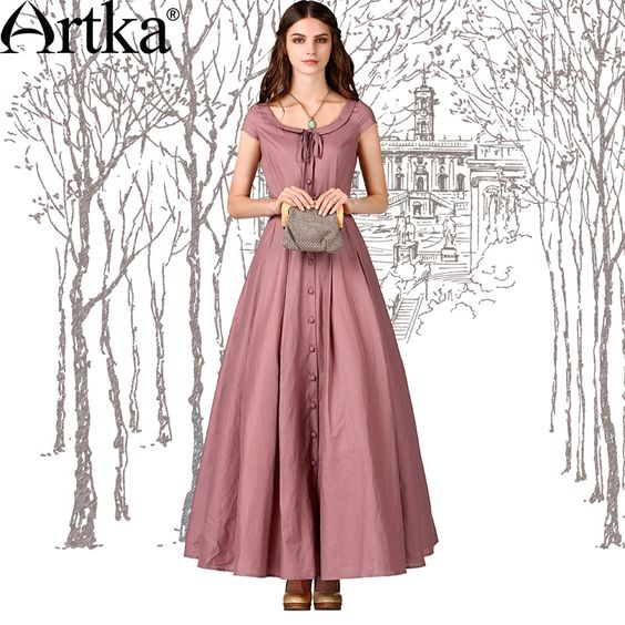 Find More Information about Artka Women&-39-s Retro Summer Long ...