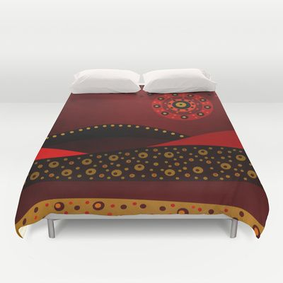 Red spring Duvet Cover by Viviana Gonzalez, Hand Sewn