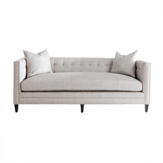 Grey Modern Sofa London Tufted Back Sofa Jerome S Living Room Sets Furniture Affordable Living Room Furniture Fabric Sofa