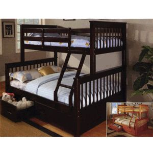 Solid Wood Twin/Full #BunkBed 7438(ABC)