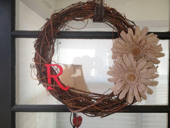 Burlap Gerber Daisy Wreath
