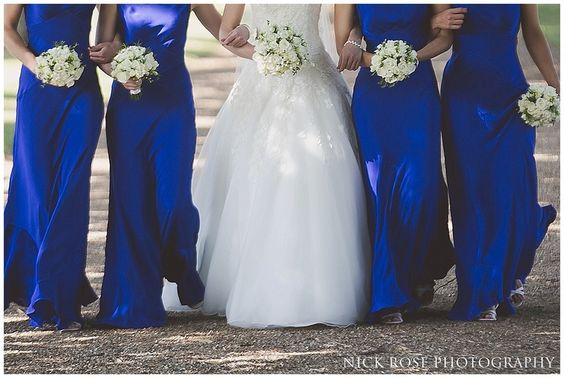 Royal Blue long bridesmaid dresses fitted in perfectly for a Hampton Court Palace Wedding | Nick Rose Photography | www.nickrosephotography.com  #bridesmaid #bluebridesmaiddresses